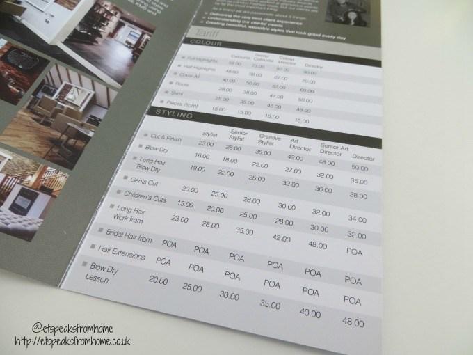 anthony john salons price list