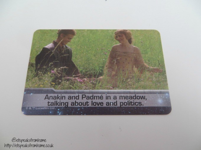 star wars timeline card