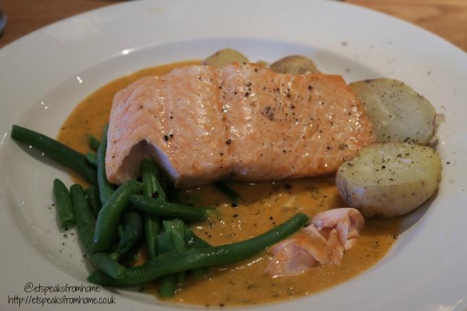 beefeater festive menu salmon