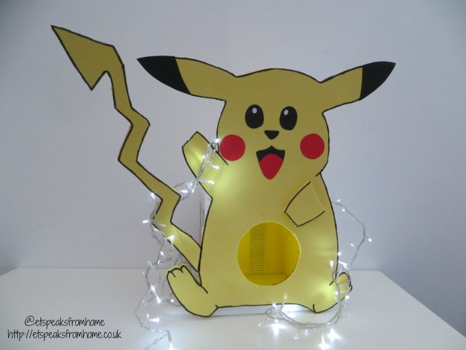 pikachu pet bed with lighting
