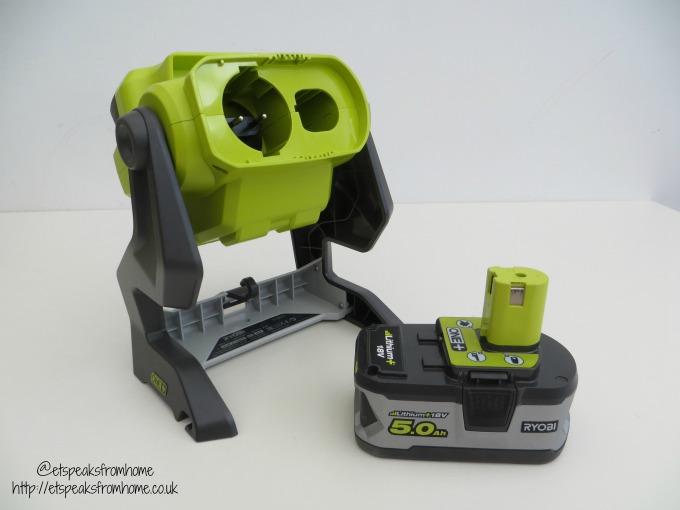 ryobi 18v area light battery