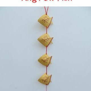 Chinese New Year Ang Pow hanging Fish craft