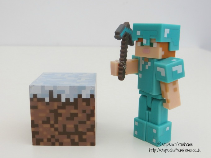 Minecraft Action Figures Series 3 Toy steve diamond armor