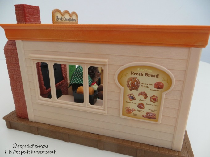 Sylvanian Families brick oven bakery shop side