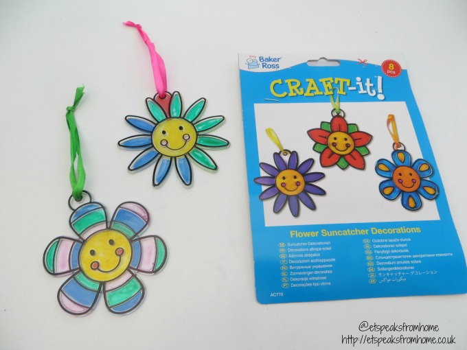 spring craft with baker ross flower suncatcher