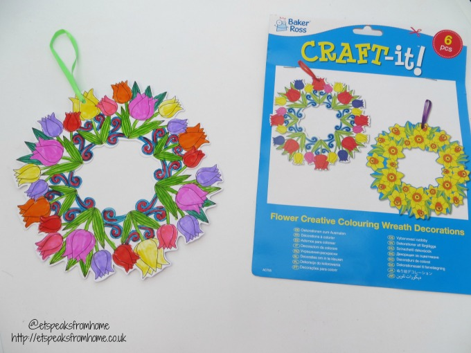 spring craft with baker ross flower wreath