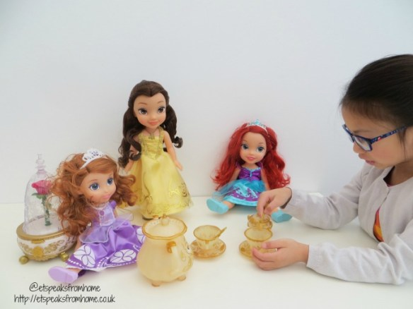 beauty and the beast tea party with disney princess