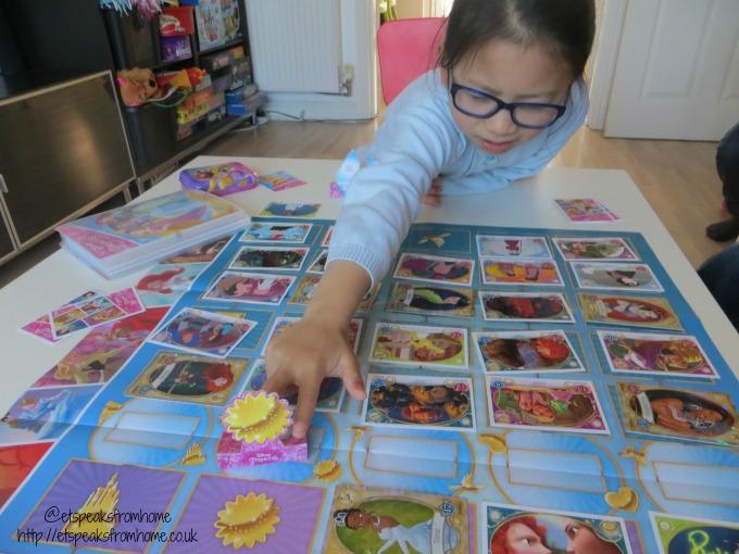 disney princess trading card game playing