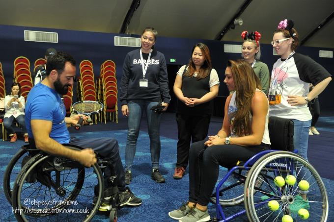 Meeting Disney Ambassadors runDisney France tennis