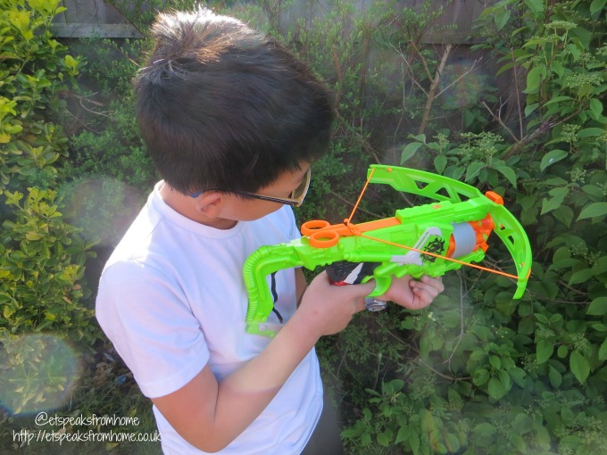 Nerf Zombie Strike Outbreaker Bow playing