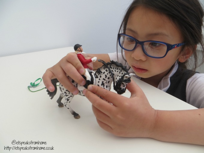 Schleich Show with Knabstrupper Mare playing