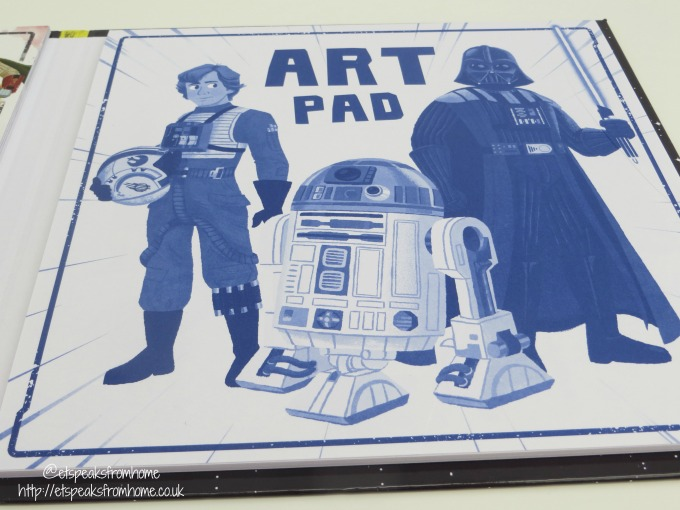 Star Wars reads make and do art pad