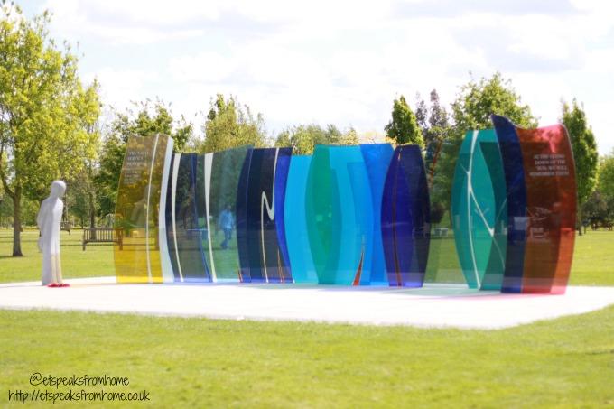 Explore Lichfield and surrounding areas National Memorial Arboretum display