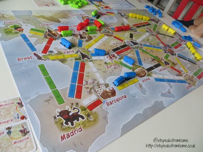 ticket to ride first journey playing European Edition