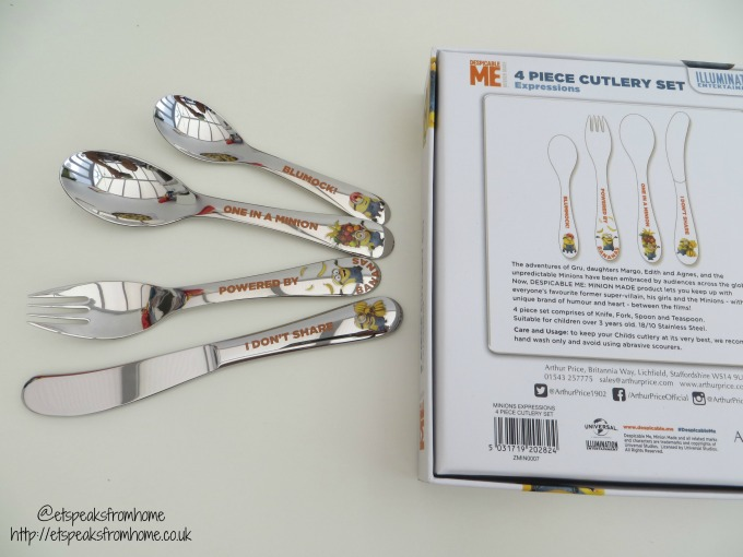 Despicable Me 3 Arthur Price Cutlery set