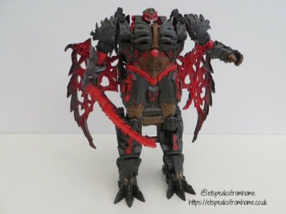Transformers The Last Knight Mega 1-Step Turbo Changer Dragonstorm knight