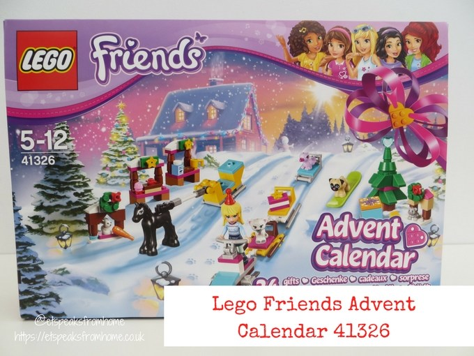 Lego friends advent calendar 2017