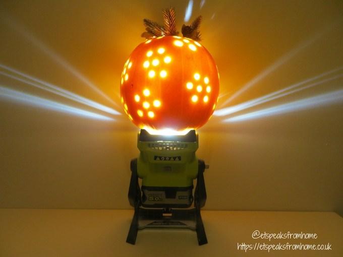 halloween pumpkin carving challenge - flower pumpkin using ryobi lightin