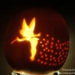 halloween pumpkin carving challenge - tinkerbell pumpkin