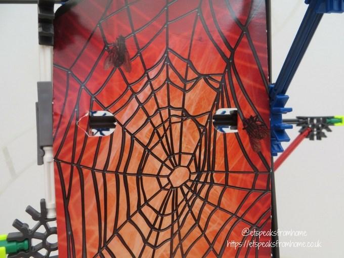 k'nex web weaver roller coaster spider wall