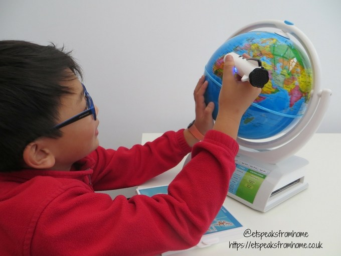 smart globe explorer ar playing