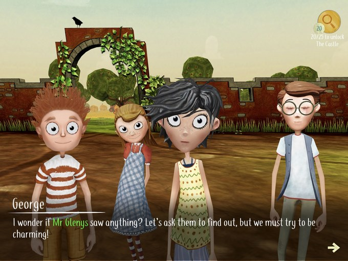 the famous five the adventure game app characters