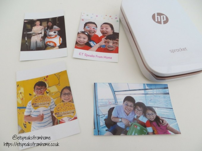HP Sprocket Photo Printer zink quality