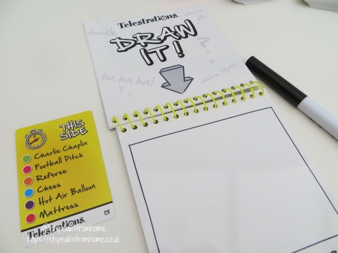John Adams Ideal Game telestrations notepad