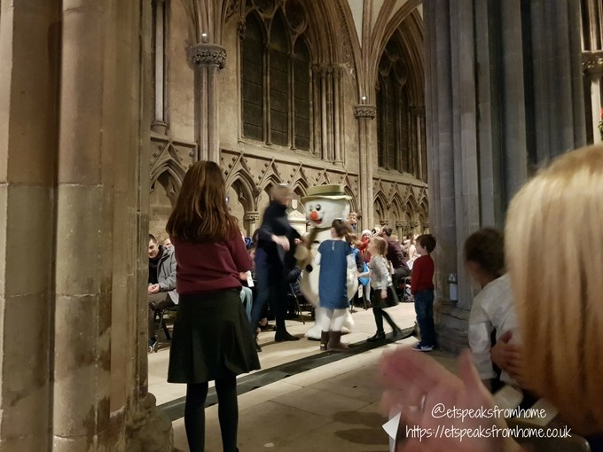 The Snowman Tour 2017 in Lichfield Cathedral snowman