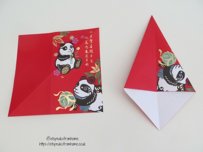 Ang Pow Origami Dog chinese new year 2018 step 1