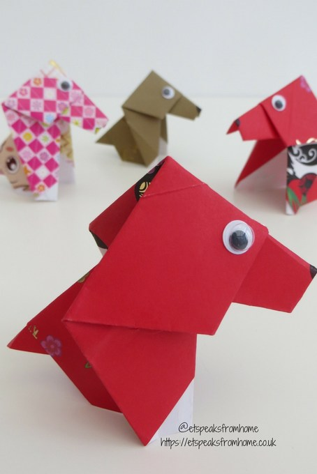 Ang Pow Origami Dog chinese new year 2018
