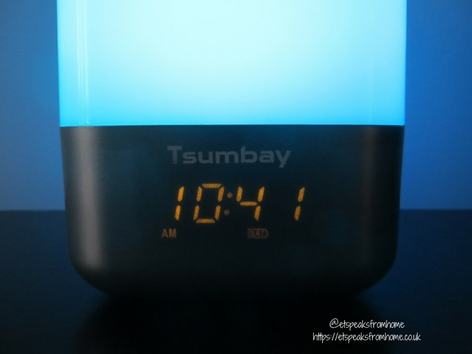 tsumbay wake up light alarm clock LED display