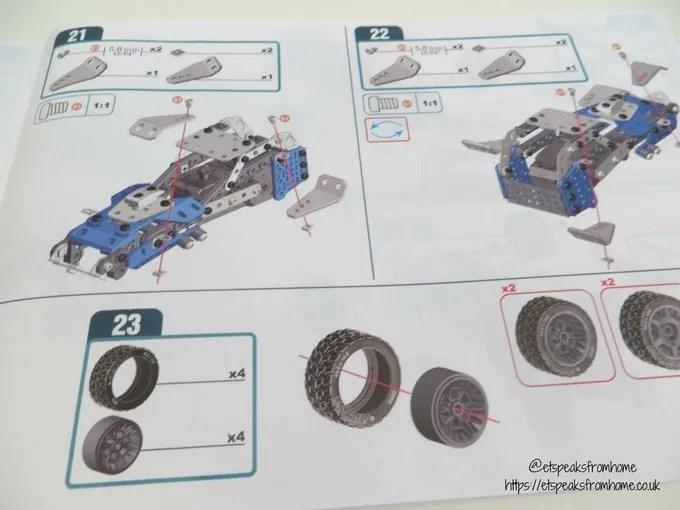 Meccano Rally Racer Set instructions