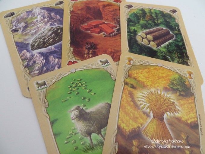 catan board game resource card