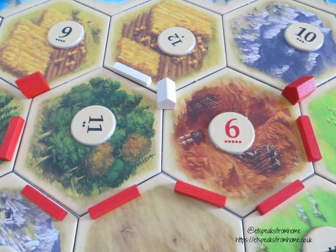 catan board game settlement
