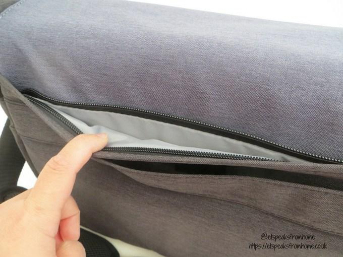 inateck camera case shoulder bag back pocket