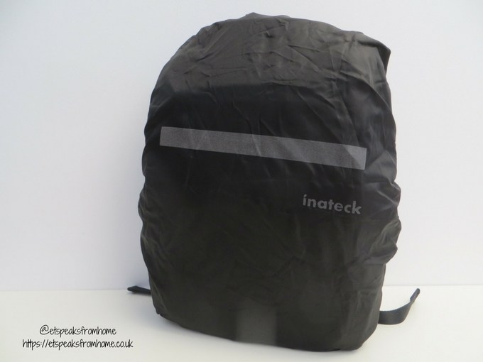 inateck laptop backpack with usb cable with rain coat