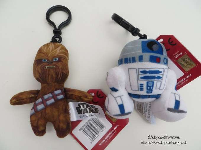 Posh Paws star wars plush collection bag clip keychains