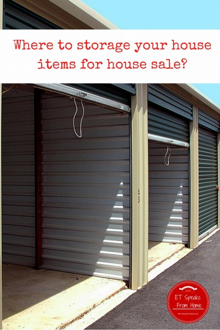 Where to storage your house items for house sale
