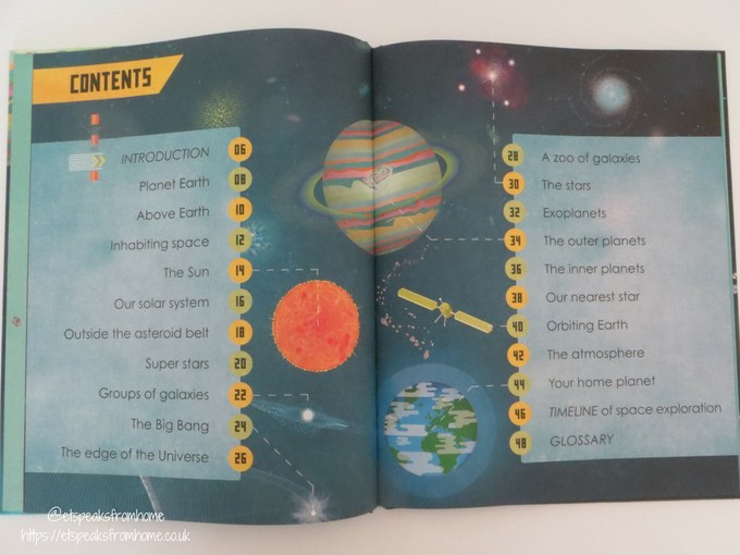 Amazing Space Book contents