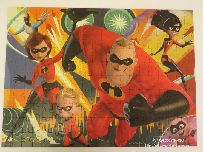 Jumbo Incredibles 2 Puzzles 200xl completed