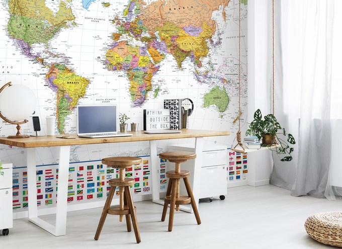 Ideas to Bring Your Home To Life with Wall Sauce world map