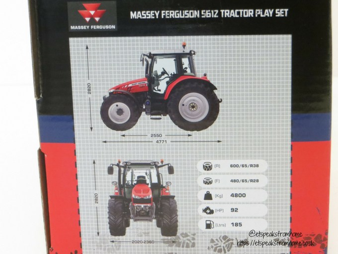 Massey Ferguson Tractor Playset measurement