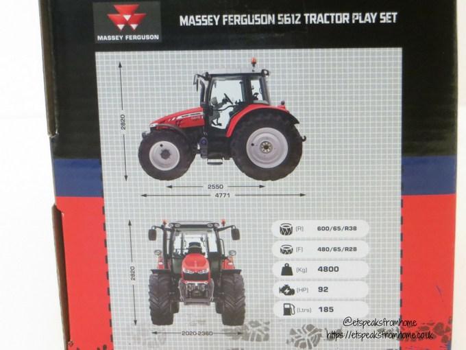 Massey Ferguson Tractor Playset measurement