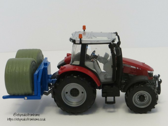 Massey Ferguson Tractor Playset side with bales