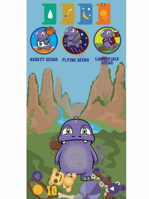 deeno-saur app mini game