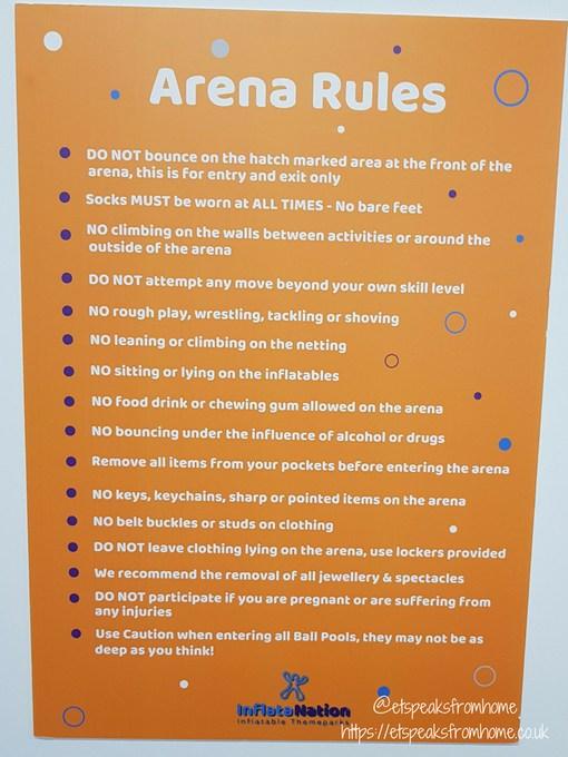 inflata Nation birmingham rules