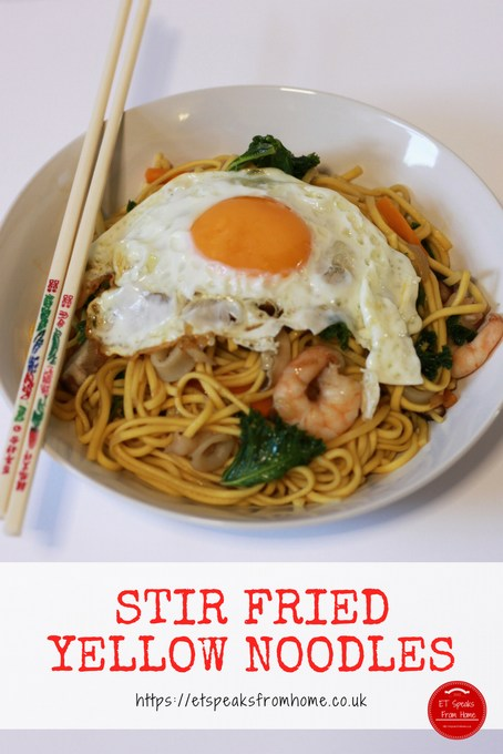 little foodies stir fried yellow noodles with egg