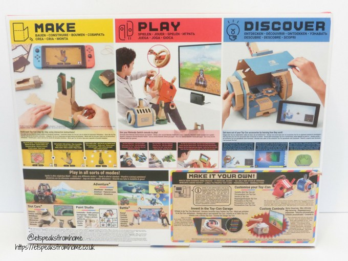 Nintendo Labo Toy-Con Vehicle Kit back
