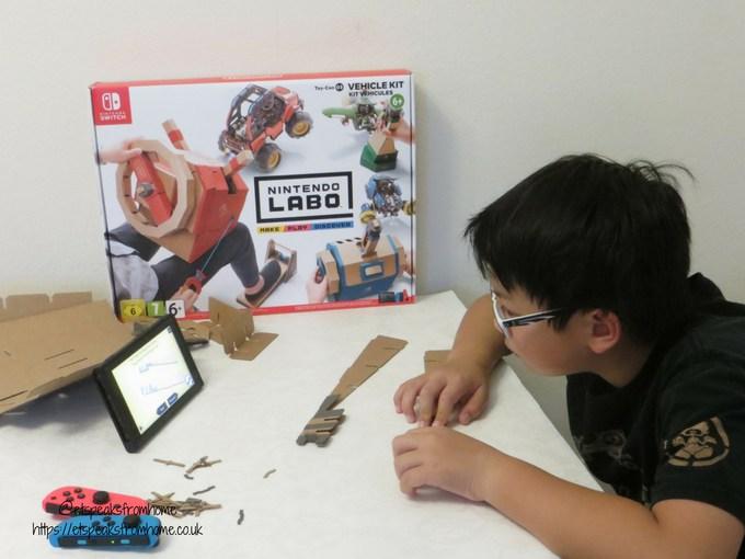 Nintendo Labo Toy-Con Vehicle Kit make